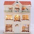 Hecho a mano Muebles de Casa de Muñecas Miniatura Diy Casas de Muñecas casa de Muñecas En Miniatura De Madera Juguetes Para Niños Adultos Regalo de Cumpleaños 3812