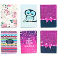 Cute Cartoon Owl Wallet Flip PU Leather Cover for Samsung Galaxy Note 10.1 2014 Edition P600 P601 Case Original Pad Accessories