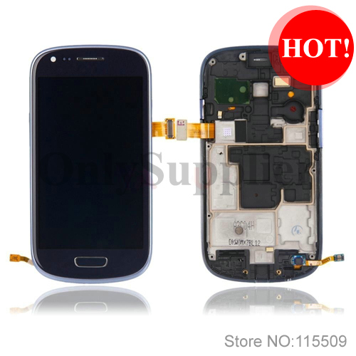 100 Original LCD Touch Digitizer Screen with Tools Assembly for Samsung Galaxy S3 Mini i8190 Blue