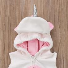 Baby Girls' Hooded Unicorn Romper