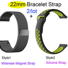 22mm Bracelet Band For Xiaomi Huami Amazfit GTR 47mm Stratos 2 Pace Watch Strap For Samsung Gear S3 Galaxy 46mm Pulsera Correa amazfit leather bracelet watch band 22mm for xiaomi huami amazfit pace stratos 2 correa wrist strap for samsung gear frontier s3