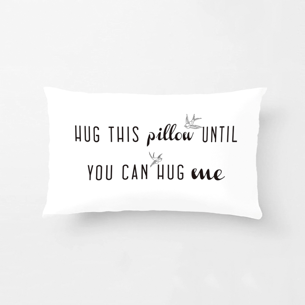 Hug This Pillow Until You Can Hug Me Cushion Cover Long Distance Gift Pillowcase Pillow Cushion Cover Wedding Decorative Case(China)