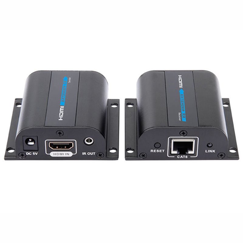 ФОТО With IR Control 1080P HDMI Extender Converter Up to 60M,Video/Audio Extend Over Cat6/Cat7 LKV372A US,EU,UK,AU