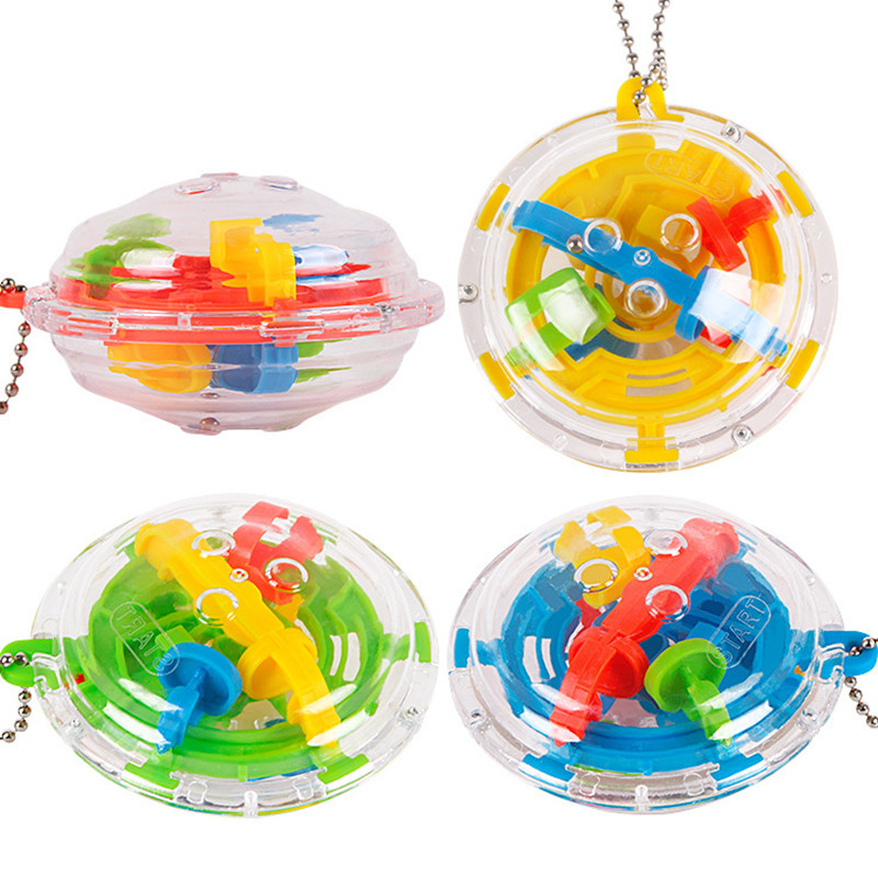 Mini 36 Steps 3D Magic Intellect Maze Ball Track Puzzle Toy Perplexus Epic Game Children Adult Magnetic Balls Toys for Kids