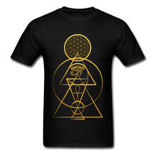 Geometric T-shirts For Men Punk Style Tshirt 100% Cotton Summer/Fall T Shirts Casual Tops Tees Short Sleeve 2018 New Streetwear