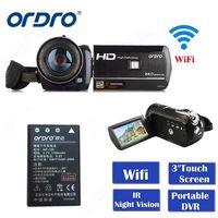 Бесплатная Доставка почтой! ORDRO HDV D395 Full HD 1080p 18X3,0 сенсорный экран цифрового видео камера + батарея