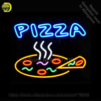 PIZZA Neon Sign Real Glass Tube Handicrafted Custom LOGO Texans Recreation Room Neon Bulbs Decorative Commercial Lamp VD 17X14