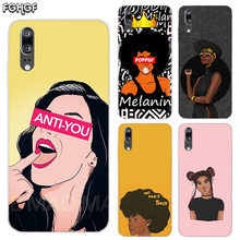 Black Girl Melanin Poppin Soft Silicone Phone Back Case For Huawei P20 P30 P8 P9 P10 lite Pro Plus P Smart + TPU Cover
