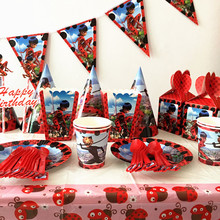 83Pcs Miraculous Ladybug Cartoon Kids Boys Baby Birthday Decorative Party Event Supplies Favor Items For Children 10 People