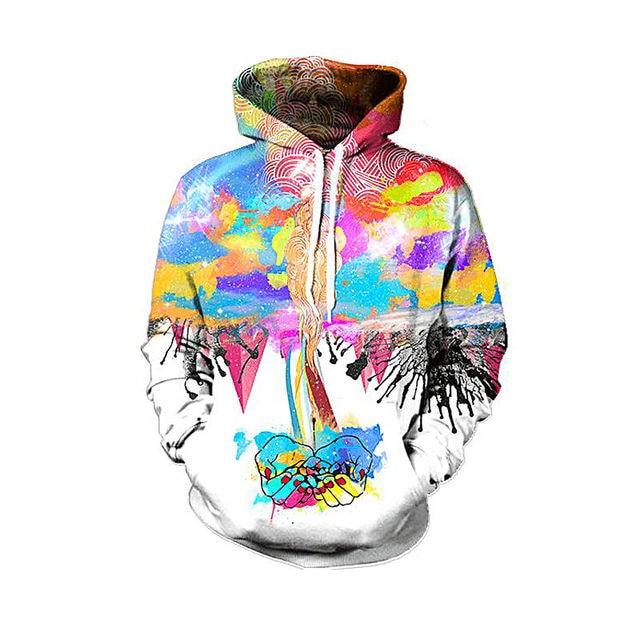 babba4e5a68 Colorful Creative Hip Hop 3D Hoodies Sweatshirts Men s Clothing New  Designer Mens Unisex Crewneck Hooded Cloak Fashion Man