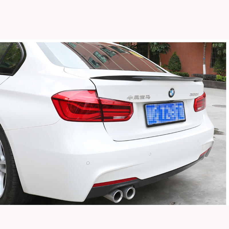 For BMW F30 F80 M3 Spoiler Carbon Fiber Material M Performance Style 2012 - up 320i 328i 335i 326D F30 Carbon Fiber m performance style carbon fiber rear trunk wing spoiler for bmw 3 series f30 2012 2018 318i 320i 328i 330i 335i