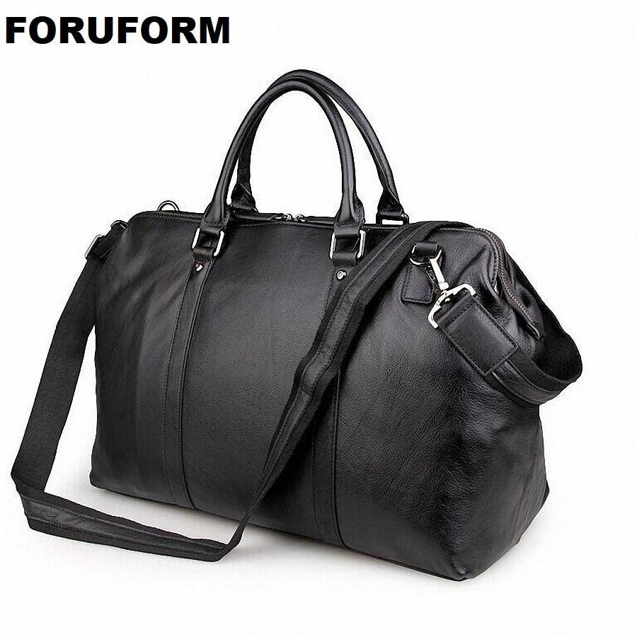 2018 Vintage Genuine Leather Travel Bag Men Duffel Bag Luggage Travel Bag Large Men Leather Duffle Bag Weekend Tote Big LI 1268