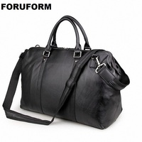 2018 Vintage Genuine Leather Travel Bag Men Duffel Bag Luggage Travel Bag Large Men Leather Duffle Bag Weekend Tote Big LI 1268