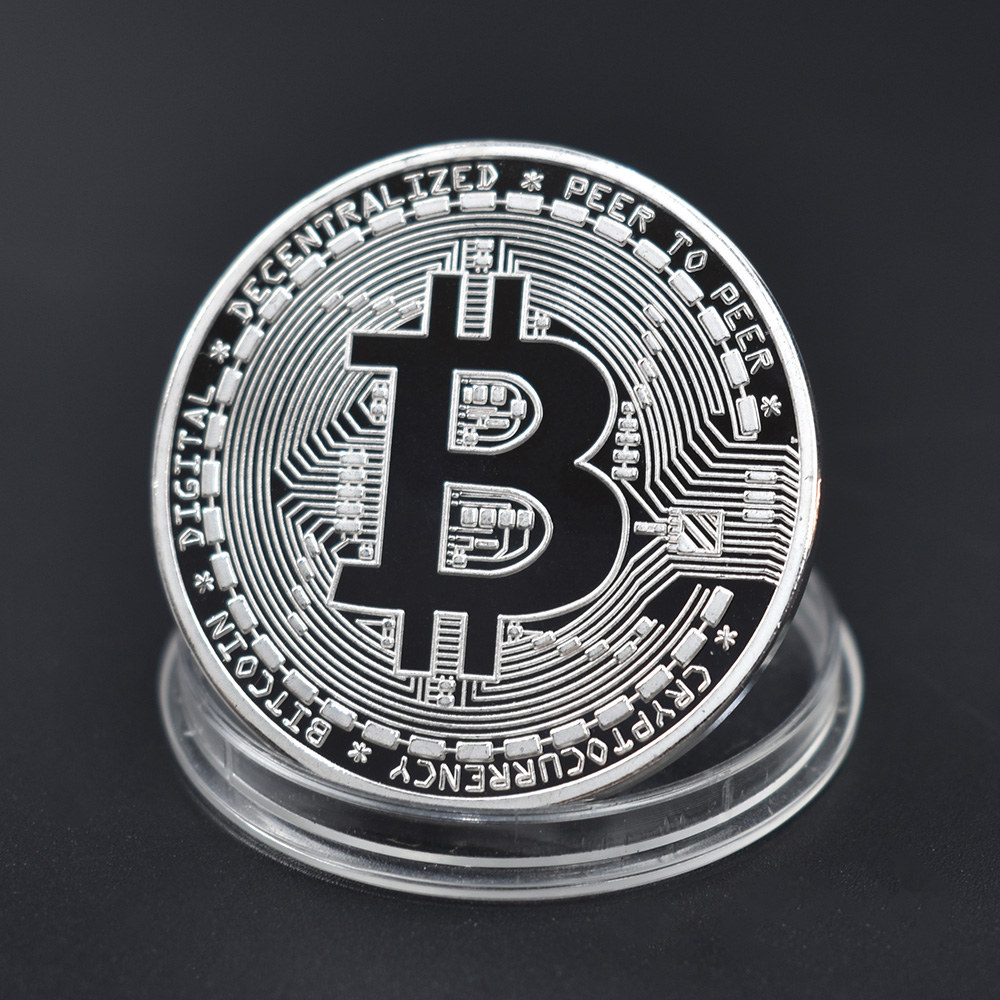 Cheap Bitcoin Coin Bit Cryptocurrency BTC Coin Ripple Metal Physical Coin With Plastic Shell-1