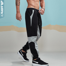 Aimpact 2018 New Spring Jogger Pants Men Cotton Patchwork Sweatpants Fitted Sweat Pants Active Casual Trousers Track Pant AM5004