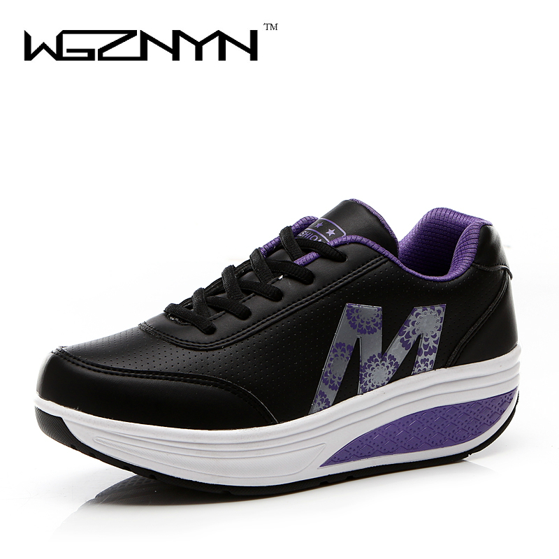 WGZNYN 2020 Spring Women Shoes Platform Shoes Pu Leather Casual Shoes Flats Tassels Creepers Laidis Shoes Zapatos Mujer