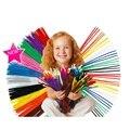 100 unidades/pacote chenille hastes crianças diy educacional brinquedo criativo pelúcia macia brinquedo shilly-vara atada crianças materiais de artesanato