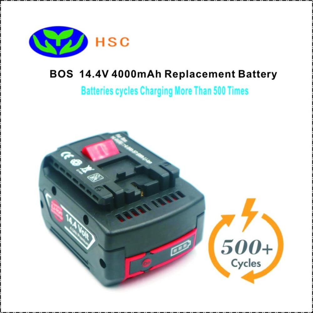 18650 Battery Pack BOS14 4B 4 0Ah Lithium Battery 14 4V Replacement for Bosch BAT607G BAT614G