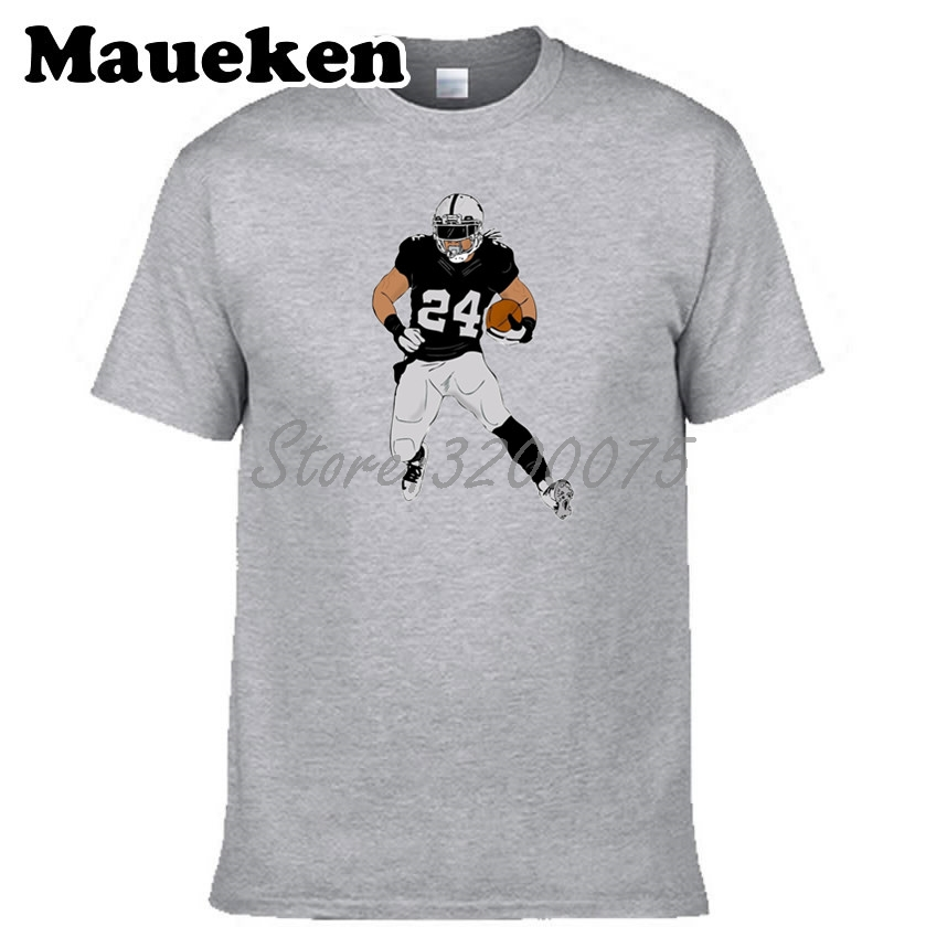 0cd063aed Men Marshawn Lynch 24 Beast Mode with new team Oakland T shirt Clothes T  Shirt Men s tshirt for fans gift tee W17100816-in T-Shirts from Men s  Clothing on ...