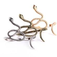 ZRM Fashion Vintage Charm Snake Shape Hand Palm Bracelet Ban