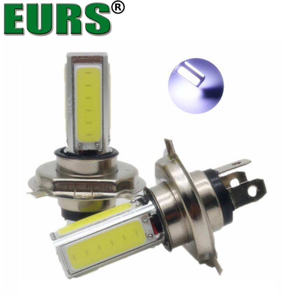 EURS LED bulbs COB Motorcycle fog lights 20W 360degree super bright headlights high quality 6000K free shipping white H4 H7 H11
