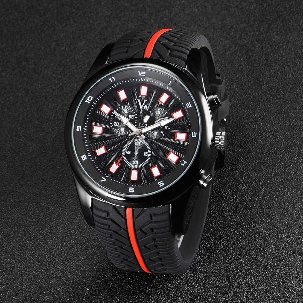 Hot sale 2016 Fashion V6 Watches Men Luxury Brand Analog Sports Watch Top Quality Quartz Military Watch Men Relogio Masculino hot selling led avionics sports watch women and men high quality silicone watches fashion students watch new relogio masculino