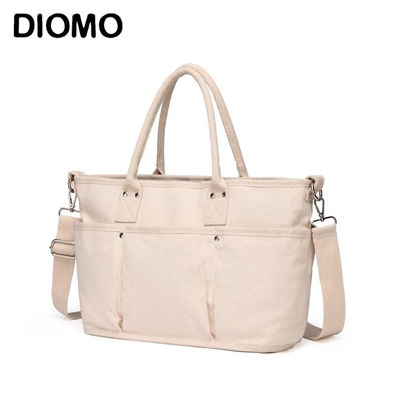 DIOMO Casual Women Tote Canvas Bag Large Capacity Handbags for Travel Beach Bag oDIOMO Casual Women Tote Canvas Bag Large Capacity Handbags for Travel Beach Bag o
