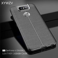 For Asus Zenfone 6 ZS630KL Case Luxury PU leather Rubber Soft Silicone Phone Cover