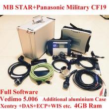 TOP Quality Mb star c4 2016-09 Vediamo +MB Star SD Connect c4 Panasonic Military Laptop CF19 Wifi Diagnostic Tool