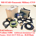 TOP Quality Mb star c4 2016-12 Vediamo +MB Star SD Connect c4 Panasonic Military Laptop CF19 Wifi Diagnostic Tool