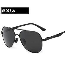 AR Blue Coatings Lenses with Black Frame Sunglasses Polarized Men Eyewear Top Quality Brand EXIA OPTICAL KD-8125 Series