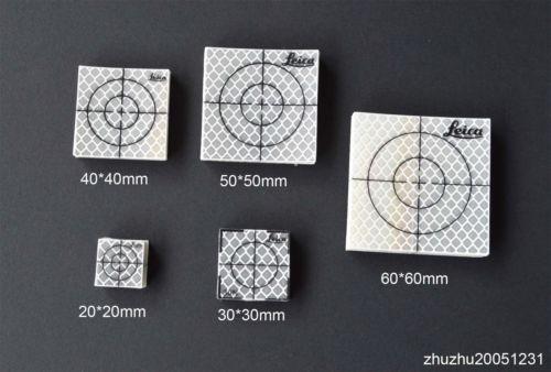 Новый 50 шт. 40x40 мм Отражатели Простыни Светоотражающие Клейкие ленты мишень для тахеометра ...