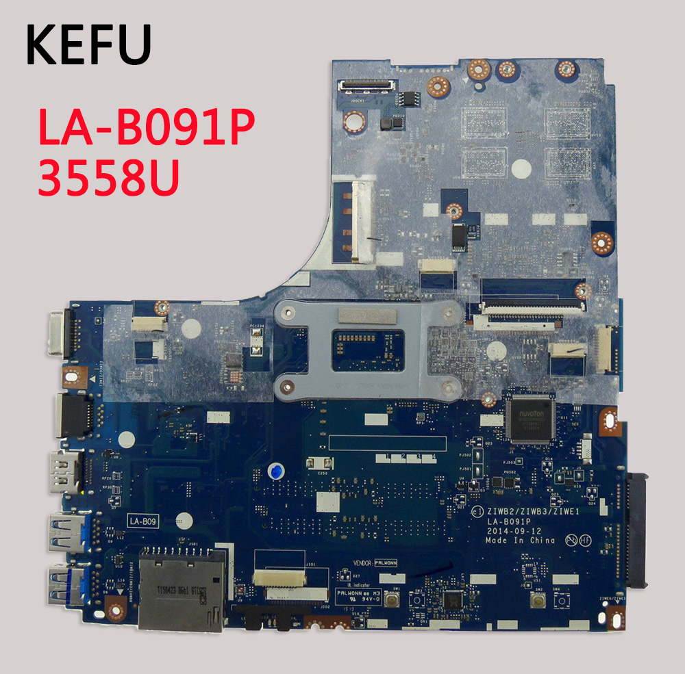 KEFU For Lenovo B50 70 Laptop Motherboard LA B091P SR1E8 3558U DDR3L 100 tested fully work