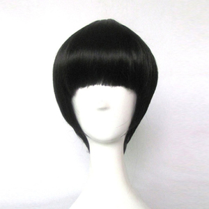 Image 1 - NARUTO Rock Lee Black Short Cosplay Wigs Heat Resistance Costume Party Wigs
