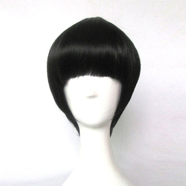 NARUTO Rock Lee Black Short Cosplay Wigs Heat Resistance Costume Party Wigs