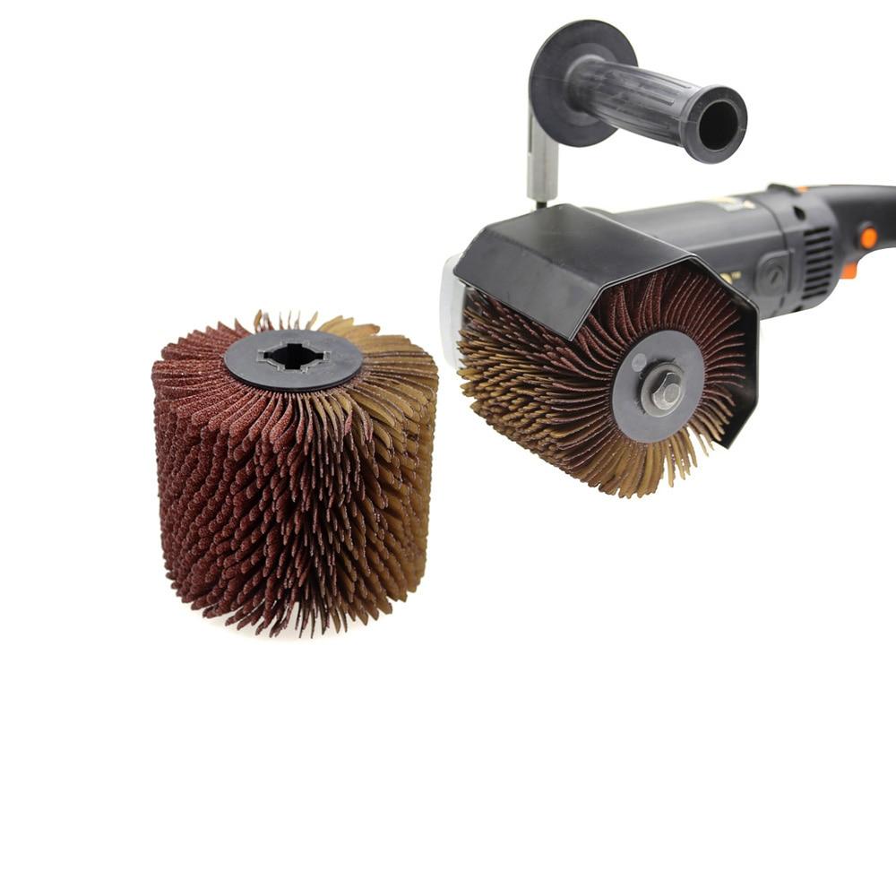 110*100*19mm Wheel Sander Emery Grinding Wheel Sandpaper Wire Brush Angle Grinder Adapter