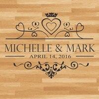 Wedding Dance Floor Decal, Wedding Floor Monogram Vinyl Floor Sticker, Party Decor Custom Name & Date DIY Deco WD17
