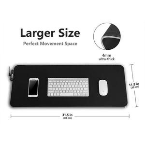 Image 2 - RGB Soft Gaming Mouse Pad Large Oversized Glowing Led Extended Mousepad Non Slip Rubber Base Computer Keyboard Pad Mat