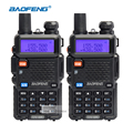 Baofeng uv-5r walkie taklie transceptor de doble banda 136-174/400-520 mhz radio de dos vías de radio portátil equipos de comunicación
