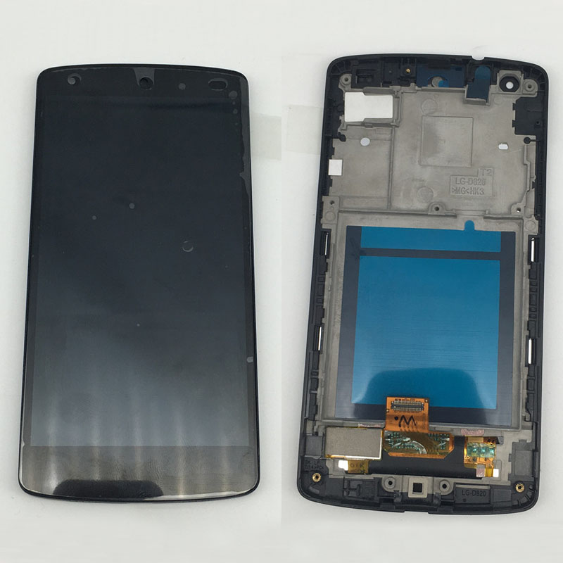 Original for LG Google Nexus 5 D820 D821 Lcd Display Screen Frame Touch Digitizer Glass Assembly