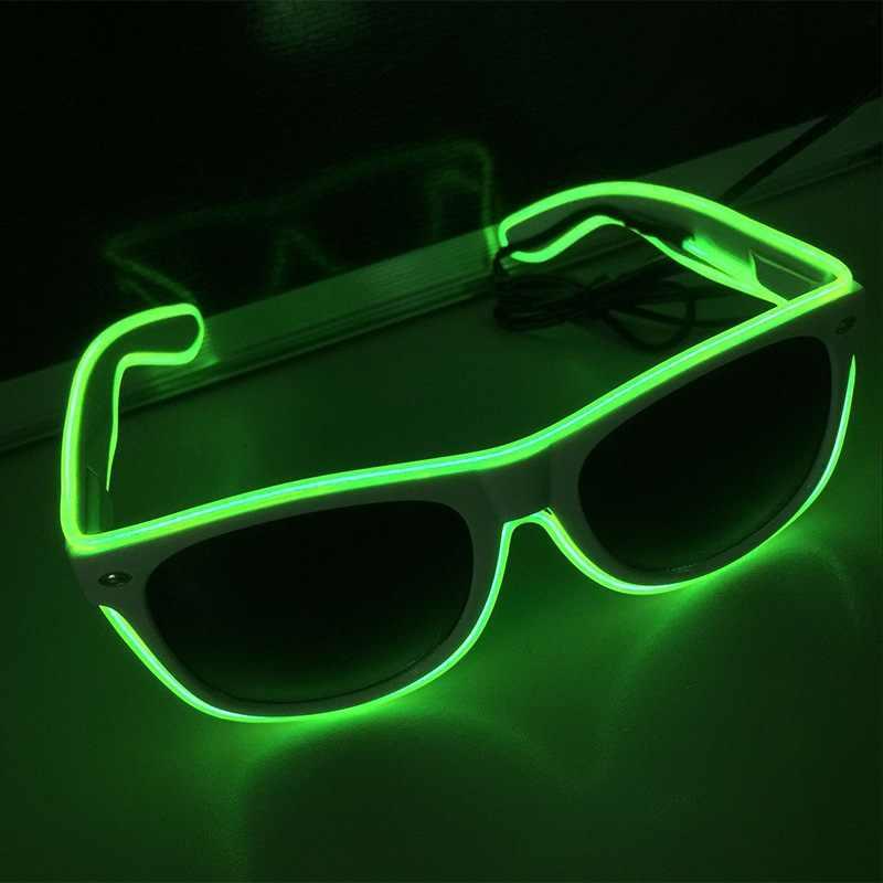 2019 модные светодиодные очки для вечеринки неоновые светить свечение костюм вечерние светлые солнцезащитные очки товары для пасхи