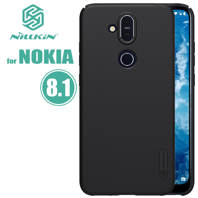newest 9c747 4ad3f US $7.99 5% OFF|for Nokia X7 Case Nillkin Super Frosted Shield for Nokia  8.1 Ultra Thin Slim Hard PC Back Cover Capa for Nokia 8.1 Nilkin Case -in  ...