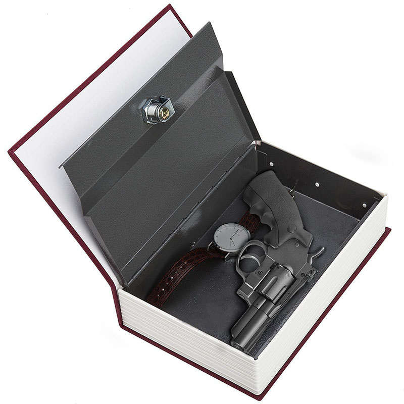 Security Simulation Dictionary Book Case Home Cash Money Jewelry Locker Secret Safe Storage Box With Key Lock Small Medium Size