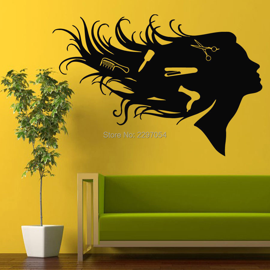 Hair Salon Wall Decor compare prices on art hairdressing- online shopping/buy low price