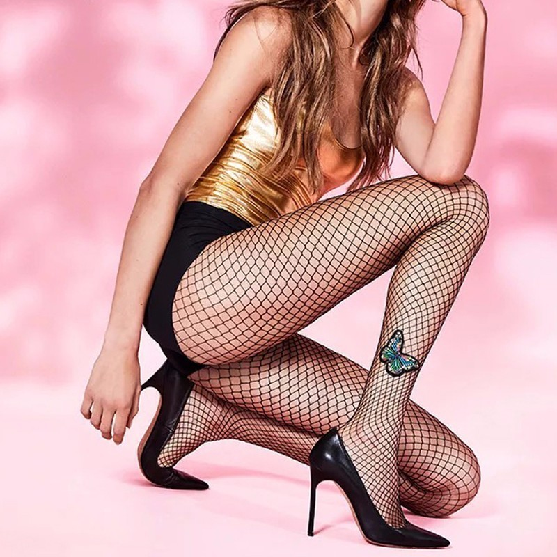 Carnival Fishnet Pantyhose Women Tights Plus Size Women Sexy Stocking Lace Nylon Fishnet Stockings Collant Femme Butterfly SW158