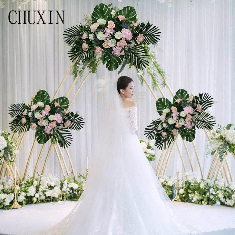 Ślub sztuczny kwiat wiersz kwiat ścienne drzwi w kształcie łuku zielony dekoracji Tstation ołowiu drogowego sztuczny kwiat ściana tła okno pokaż w Sztuczne i zasuszone kwiaty od Dom i ogród na  Grupa 1