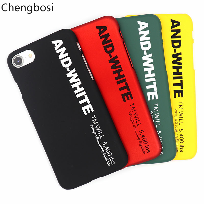 Tide Brand Couple Letter Mobile Phone Back Cover Case for IPhone 6 6s 7 8plus Iphone Accessories PC Matte Half-wrapped Case