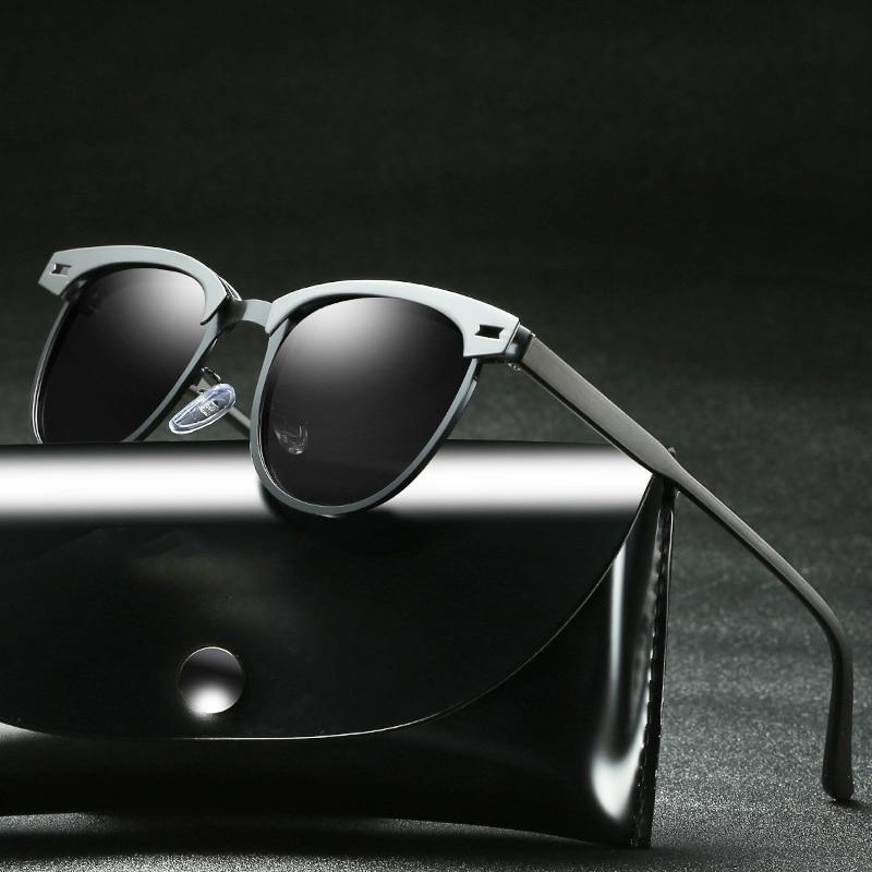 font b Sunglasses b font Men Polarized Eyewear Uv400 Glasses For Driver Half Frame Shades