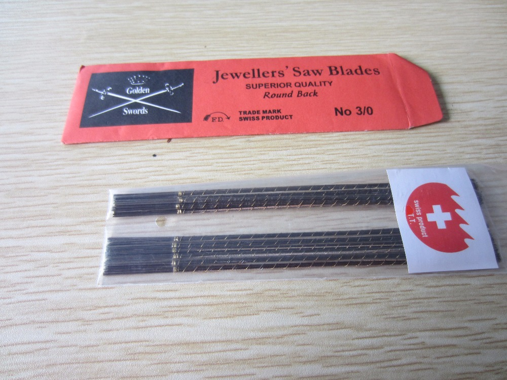 Free Shipping Jewelry Golden Double Sword Saw Blades Jeweler Tools,Cutting blade for bow saw free shipping 12 300x3 2x100tx25 4 30 wood cutting saw blade for chipboard shaving board with other sizes of saw blades