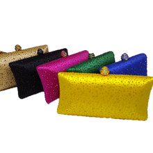 Sparkling Yellow Crystal Evening Clutches Women With Rhinestones Bridal Purses Wedding Prom Box Clutch Bag Handbags Shoulder Bag